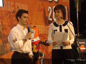 Dani Pedrosa and the new RC211V at the Repsol YPF Gala