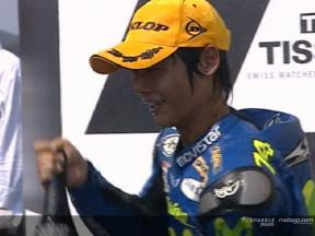 Enjoy the 250cc race in Motegi, with commentary