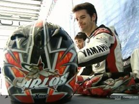 Carlos Checa at Sepang Test