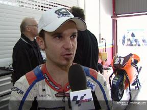Arnaud Vincent interview after Valencia Test