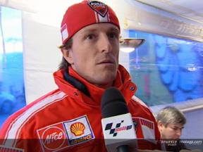 Sete Gibernau interview at the MotoGP Official Test