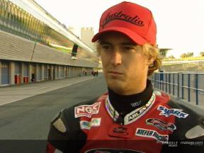 Interview de Anthony West apres Jerez Test