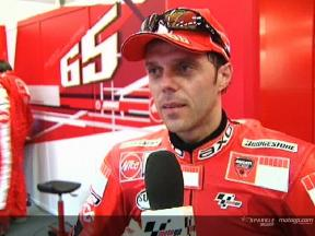 Loris Capirossi Interview nach dem FP2