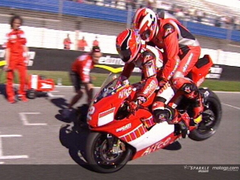 The Ducati Two-seater at Jerez