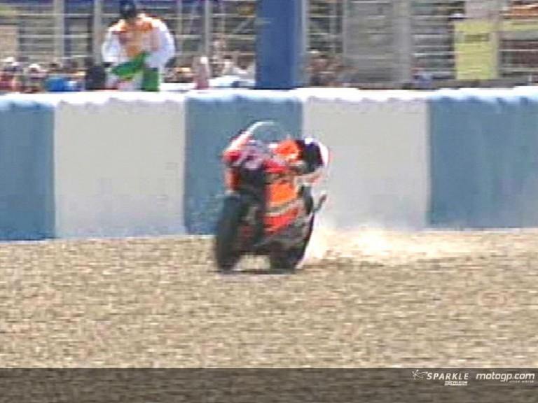 Hiroshi Aoyama crash during SPA