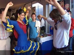 Pramac D´Antin genießt die Flamenco Show