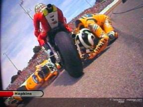 Valentino Rossi Sturz während dem Rennen