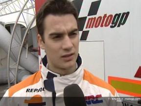 Dani PEDROSA after race