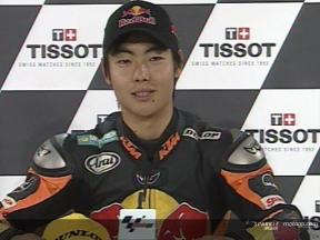 Hiroshi AOYAMA nach dem Rennen