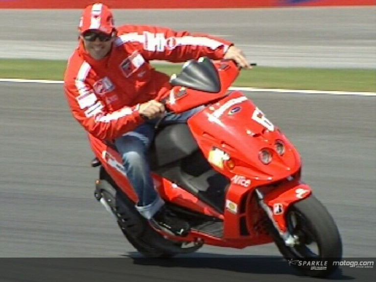 Circuit checking with Loris Capirossi