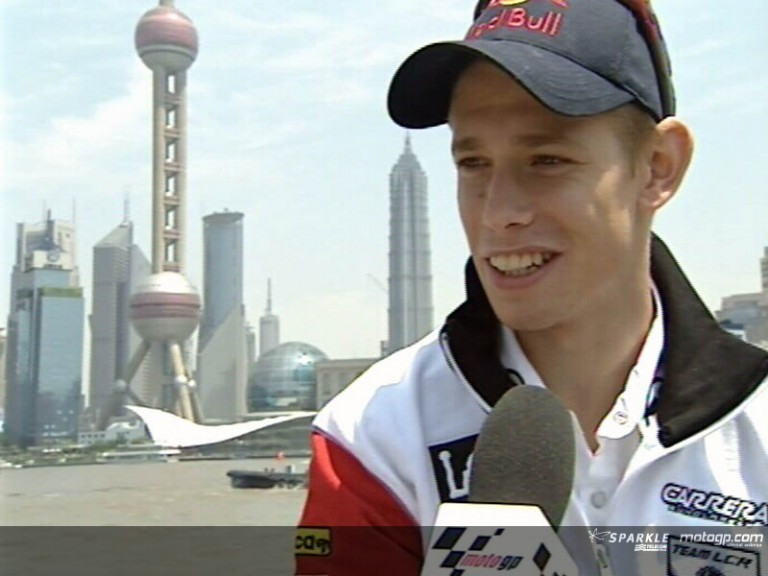Casey STONER after pre-event