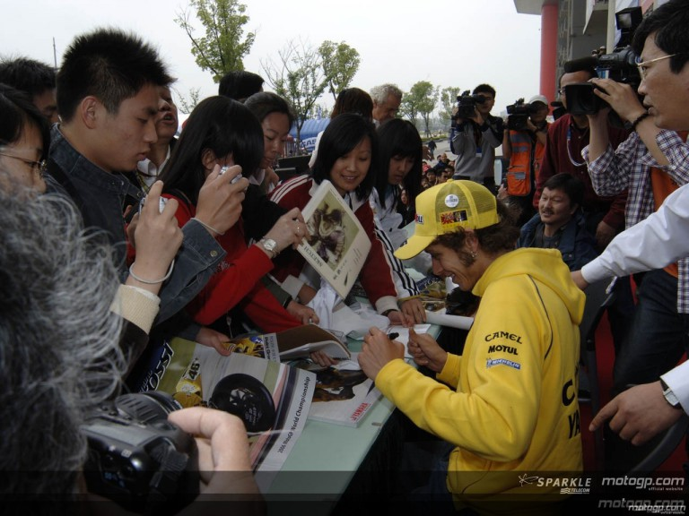 MotoGP riders autograph session for Chinese public