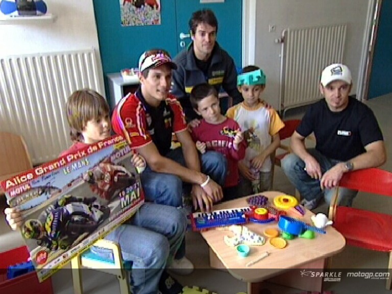 MotoGP visits children\'s hospital in Le Mans