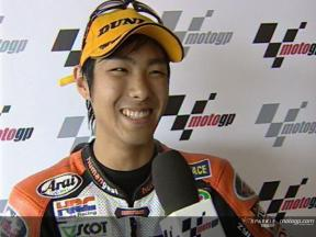 Yuki TAKAHASHI after race