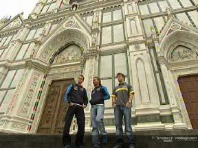 Riders visit the Basilica in Florence
