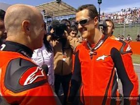 Schumacher sur la Ducati biplace