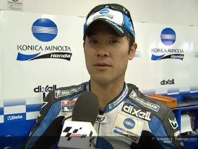 Makoto TAMADA nach dem Rennen