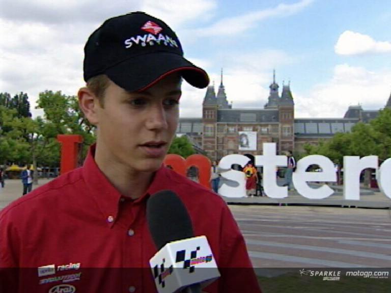 Hugo VAN DEN BERG after pre-event