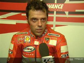 Loris CAPIROSSI post gara