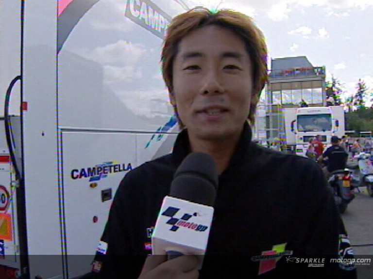 Taro SEKIGUCHI after race