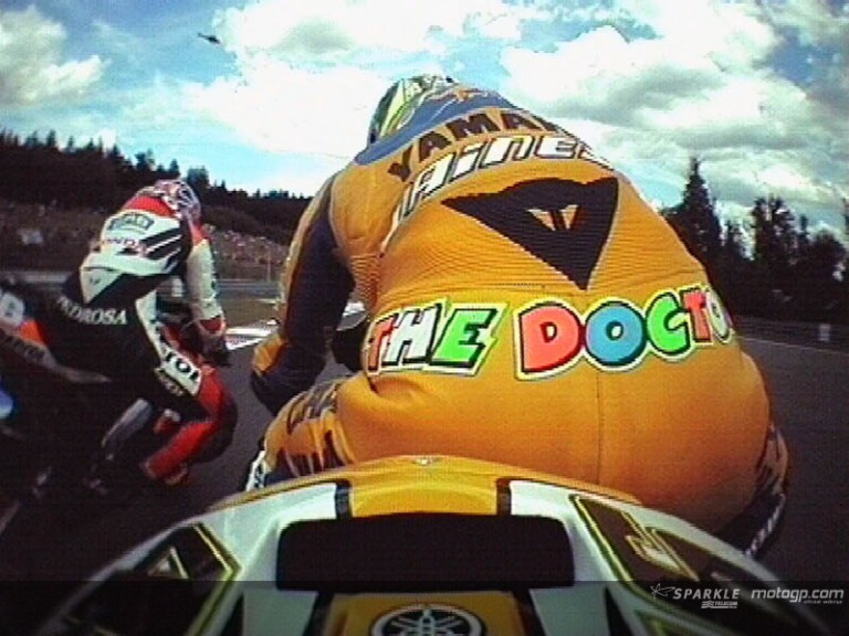 Rossi and Pedrosa OnBoard battle