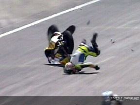 Andrea IANNONE crash during race