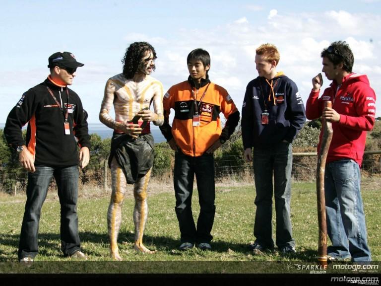 MotoGP lesson in Aboriginal Culture