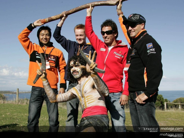 MotoGP lesson in Aboriginal Culture