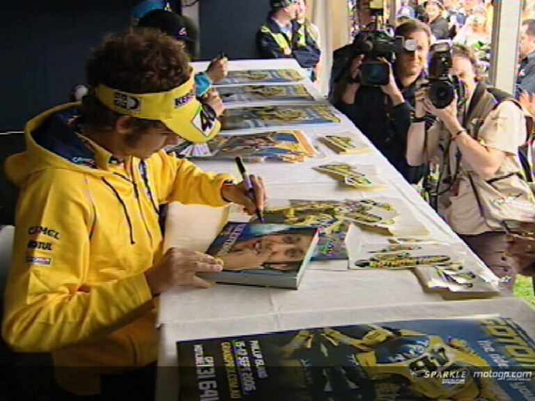 Autograph session with Rossi, Hayden and Vermeulen