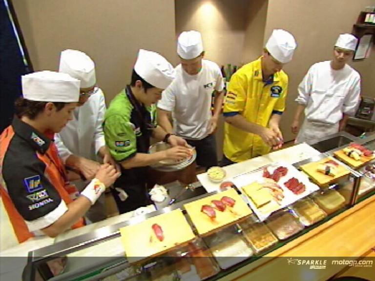Ninja Sushi for riders in Japan