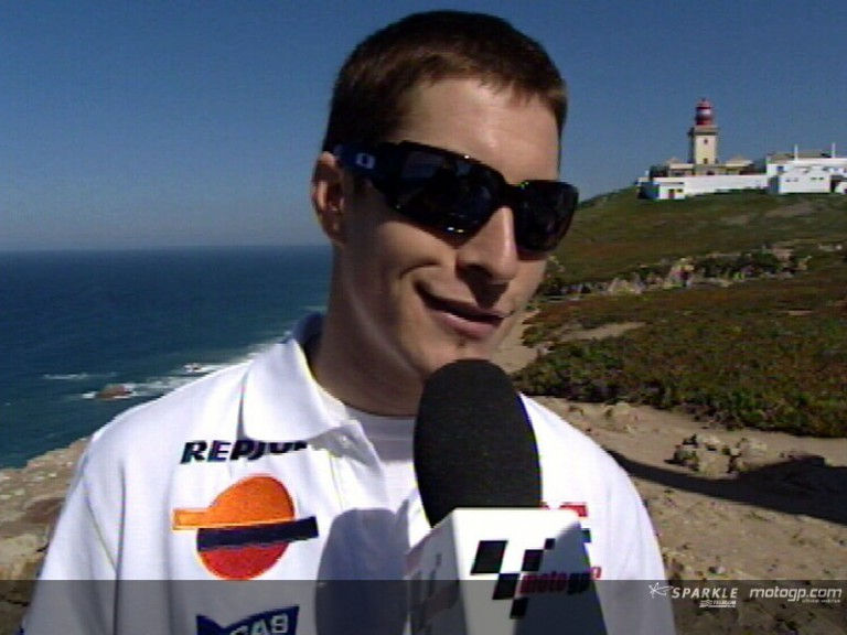 Hayden before the Portuguese GP battle