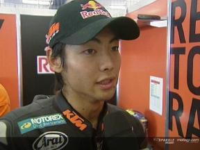 Hiroshi AOYAMA tras la QP1