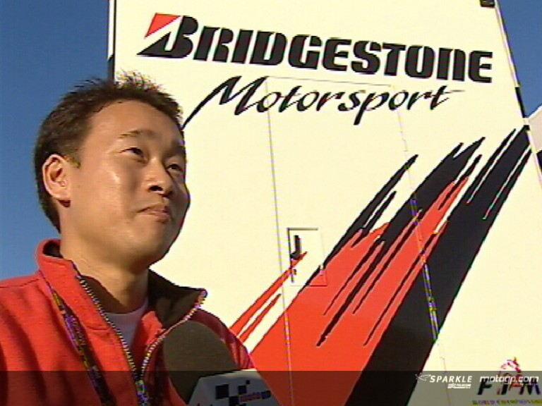 Bridgestone\'s Moto Kezuka about track