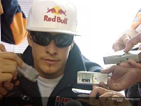 HAYDEN - Press Conference after race