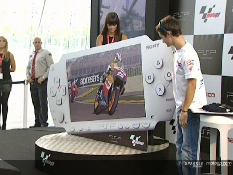 Pedrosa at Playstation presentation