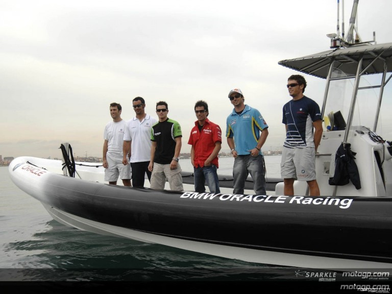MotoGP stars set sail in Valencia