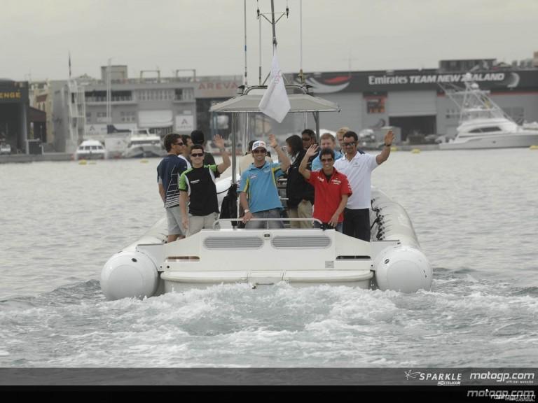 MotoGP stars set sail in Valencia