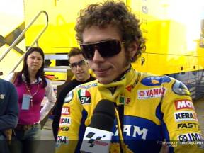 Valentino ROSSI interview at Jerez test