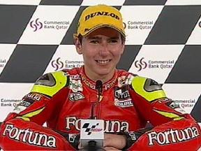 Jorge LORENZO interview after race in Qatar