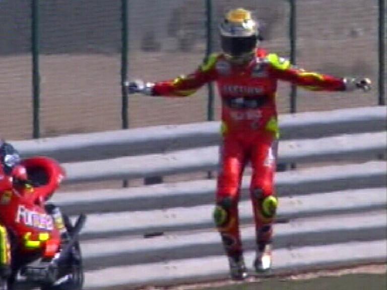 Lorenzo celebrates Balboa style