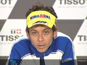 Rossi on Istanbul Park track
