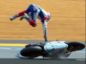 Colin EDWARDS crash during FP3