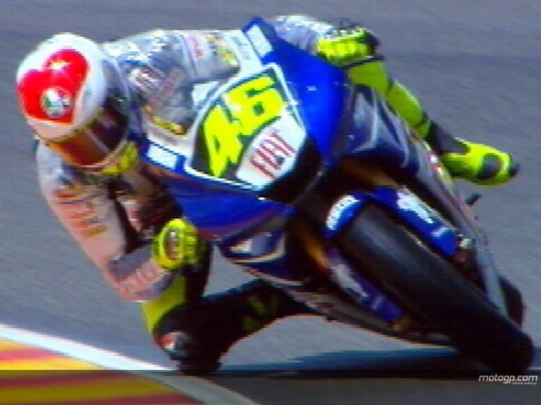 Rossi wears heart on helmet