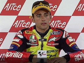 Hector BARBERA after race