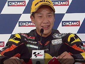 Tomoyoshi KOYAMA nach dem Rennen