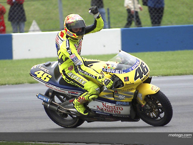 Rossi Donington 2000 celebration