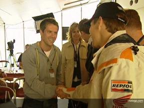 Nicky Hayden meets Michael Owen