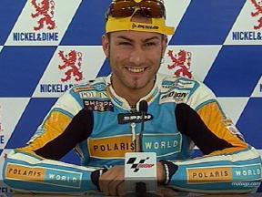 Mattia PASINI tras la carrera
