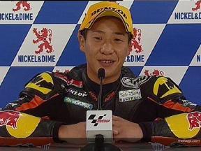 Tomoyoshi KOYAMA tras la carrera