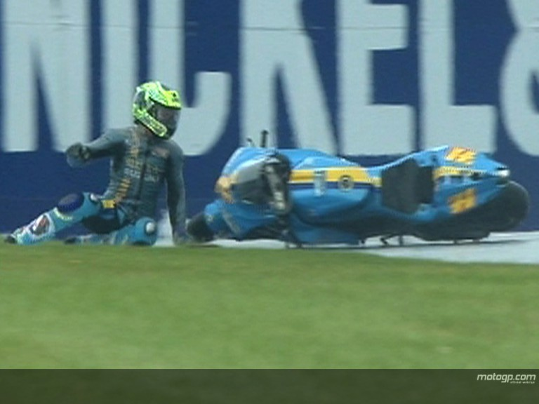 Donington\'s weekend of record crashes
